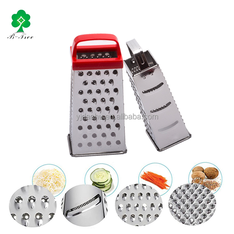 Hot sale Stainless Steel Professional Classic Zester Box Grater with 4 Sides Best for Parmesan Cheese Vegetables and Ginger