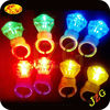 Wholesale party decoration finger ring flashing led light cheap promotional glow in the dark finger ring