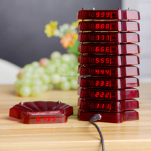 wireless waiter call system factory offer restaurant falshing vibration sound coaster pager