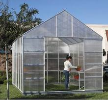 green house--polycarbonate hollow roof sheets, makrolon material PC panel greenhouse