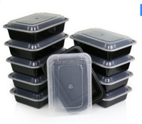 100% food grade plastic pp box Disposable take away black container