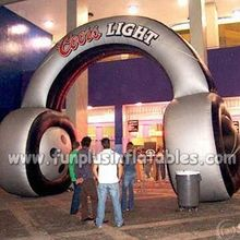 Advertising headset design inflatable entrance arch on sale P1002