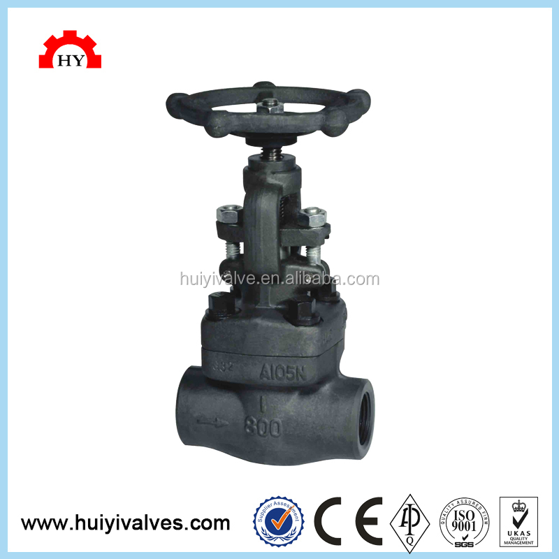 Hot Sale Welded Bonnet Forged SW End Globe Valve DN20