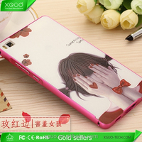 2 in 1 Cartoon Cell Phone Case for Huawei Ascend P8