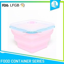 Silicone food grade personalized bento box containers