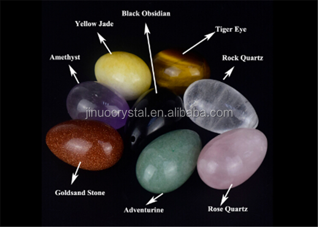 2017 Hot sale Natural Semi-Precious Stone clear Crystal Yoni Egg for sale
