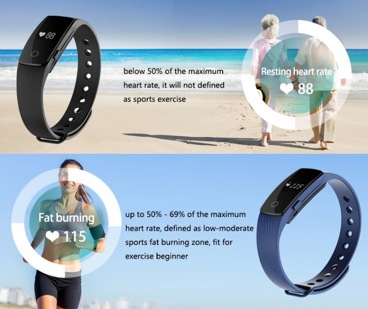 Veryfit 2.0 Pedometer Heart Reate Bluetooth Intelligent Bracelet Smart Wristband