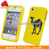Fancy Silicone Cell Phone Case For Iphone 4