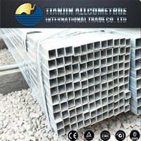 Building material/ Hollow tubes / Fence thin wall Q235 galvanized square rectangular steel pipe 366
