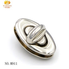 China wholesale supplier oval metal shinny silver turn lock for briefcase hardware