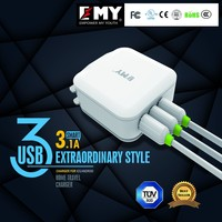 Promotion safely alibaba China single US plug 5V 3.1A AC Adapter USB home Wall Charger Universal For Samsung For Iphone
