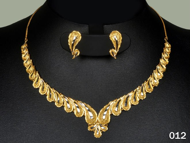 012 Buy Necklace Earings Sets Gold Jewelry Rodiam Plated Light