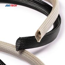 Quality flame retardant abrasion resistance wire/cable management Polyester expandable braided sleeving