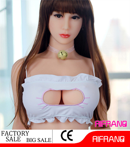 158cm Little Young Cute Asian Girl Normal Chest Solid Skeleton Silicone Sex Doll for Adult Men Masturbation 3 Hole