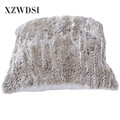 CX-D-79A Eco-friendly Cushion Cover Rabbit Fur Pillow Bolster