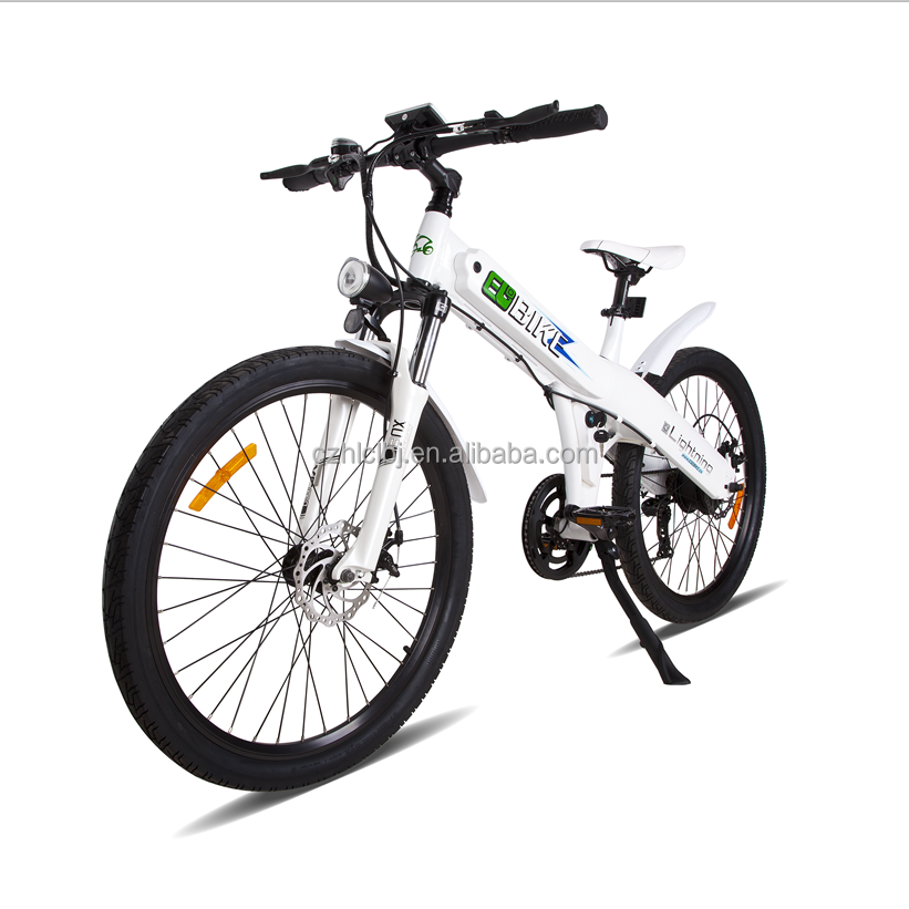 Mountain and city using electric bicycle with accelerator to have superb experience
