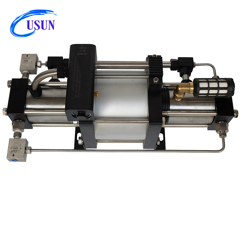 Widely used USUN Model:GBD40 20-30MPA air driven nitrogen/helium/argon gas booster pump for pressure testing