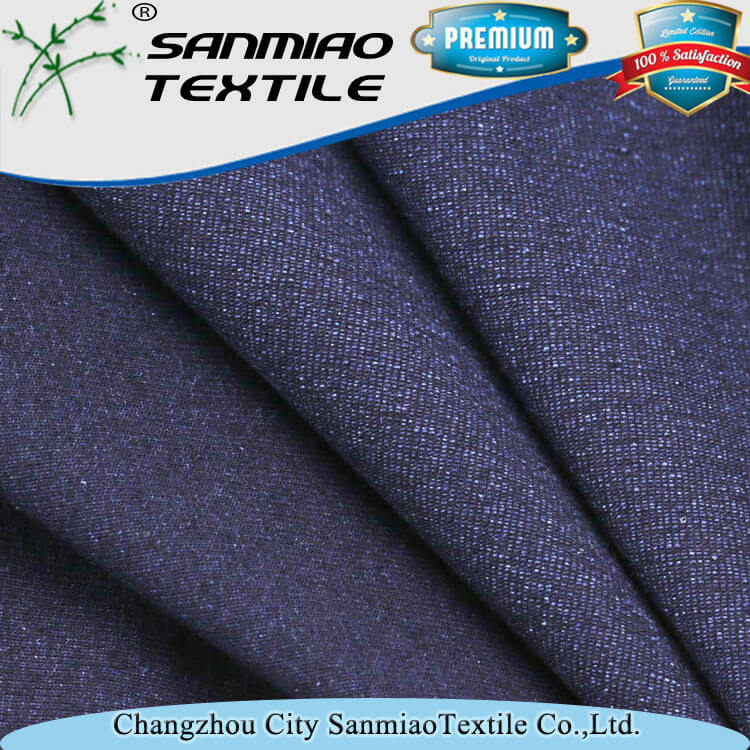 Yarn dyed indigo 100 cotton knittted single jersey fabric for shirt WHCP-20