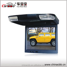 Custom Design Taxi Advertising Player,15 Inch Roof Mount Flip Down Car Monitor