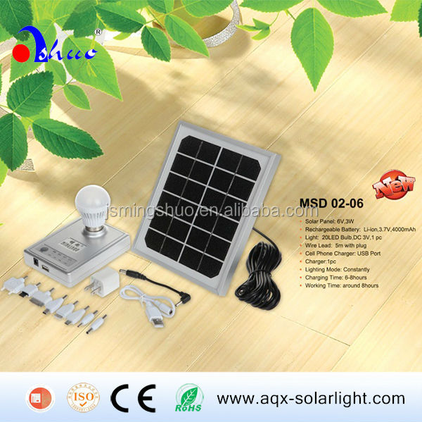 New Products!!! 3W LED Flood Light Charged by Solar Panel, Portable Solar Lamp for Camping