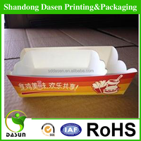 Fast food paper cardboard hamburger box SDDS-013