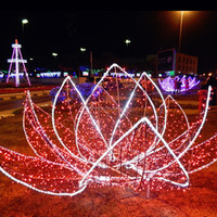 clear modern acrylic artificial flowers with led lights