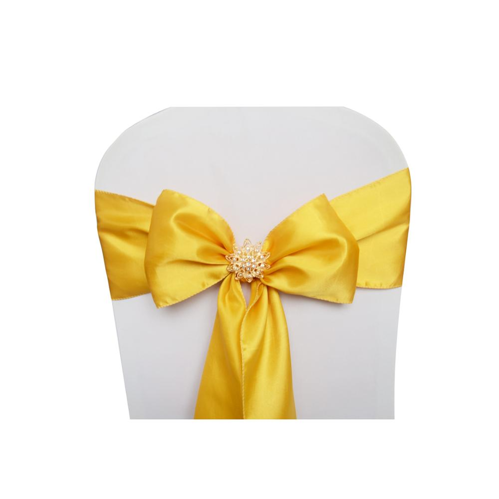 Reusable Decorative Ribbon bows Satin Chair Cover Sashes for Wedding Party Dining events