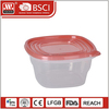 Clear Eco-friendly plastic food grade storage transparent container with lid