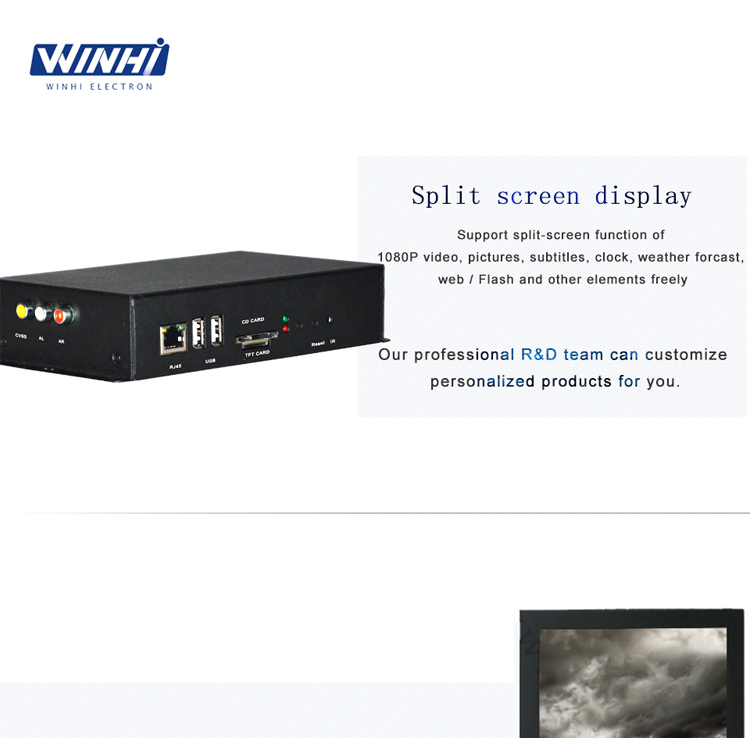 Time switch WINHI portable digital signage