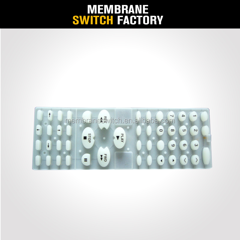 customized hign quality remote controller silicone buttons rubber keyboard