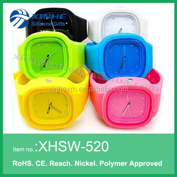 2015 Free Sample Jelly Silicone Sports Unisex Watch