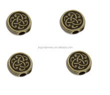 Wholesale Metal Jewelry Bead Flat Round Beads 7*7mm Hole 1.5mm