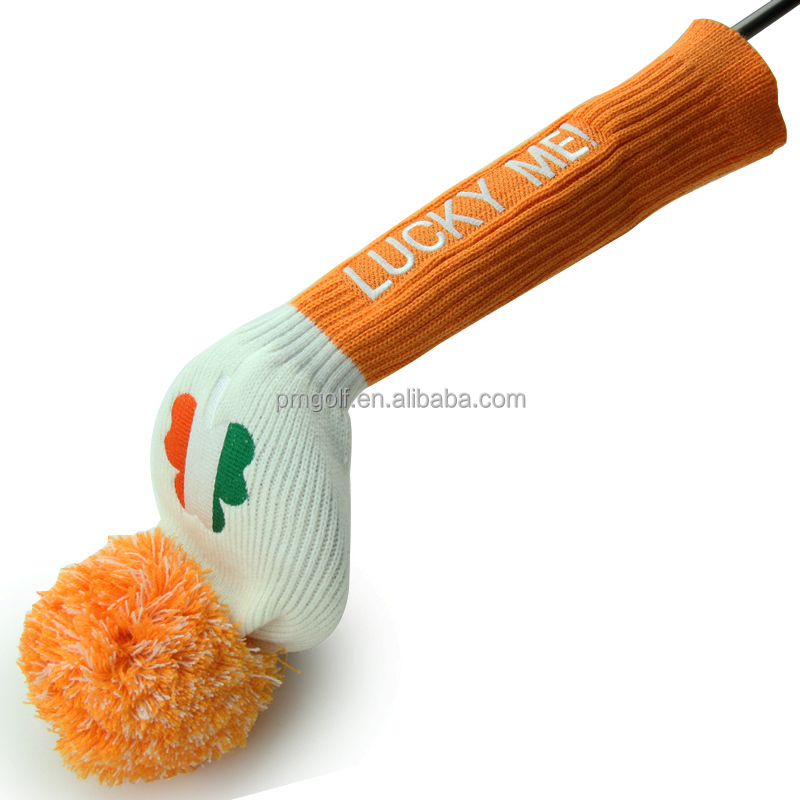 100% factory price 1pc knitted golf club headcovers for driver #1 knitted head cover with best quality