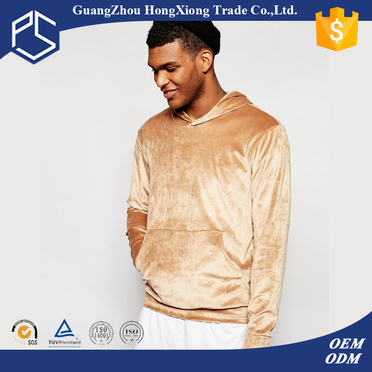 Play Some Hot Sale 100% Polyester Velour Men's Gold Cool Dri Fit Cheap Hoodie