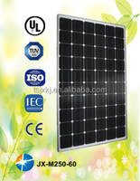 Solar panels 250w mono type with best price per watt and top efficiency from China
