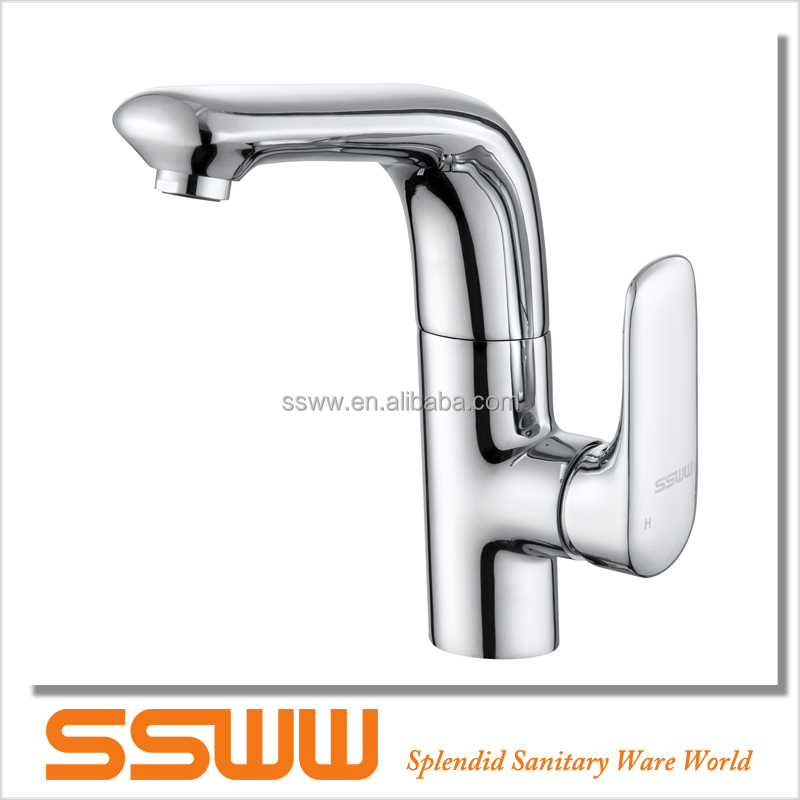 Sleek design rotatable basin faucet for hotel use