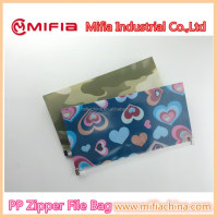wholesale high-quality Custom mini plastic office ziplock file folder bag with design printing