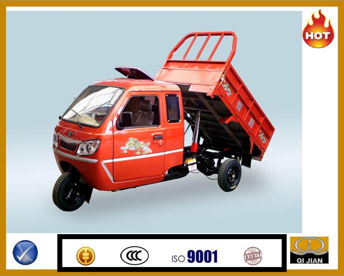 Water-cooled passenger tricycle 250cc two seat cargo tricycle gasoline truck three wheel Motocargo, Motocarro de Carga