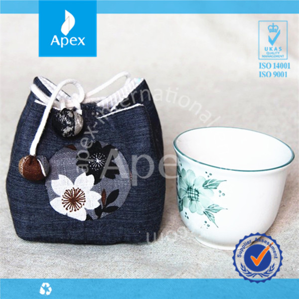 Tea cup packing hand made bags