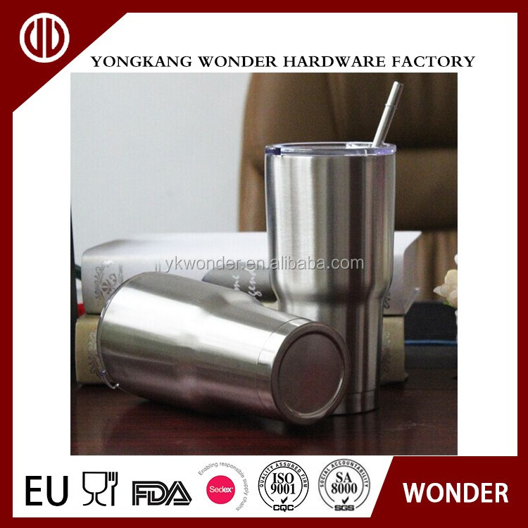 30oz stainless steel insulated vacuum tumbler with straw and lid