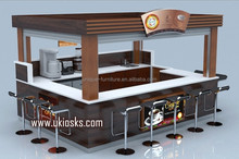 2017 elegant mobile outdoor fast food coffee kiosk design for sale