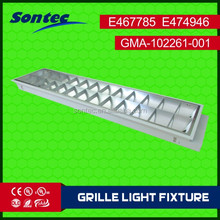 louver type fluorescent lamp T8 lamps 36W recessed 1200X300 lighting fixture 2x36w t8 ceiling fixtures