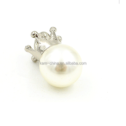 White pearl fashionable special design fancy plastic buttons for children's clothing