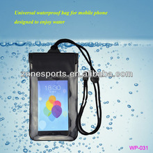 Waterproof Bag with Velco Pass IPX8 and 2 Sealed Zippers for iPhone 5