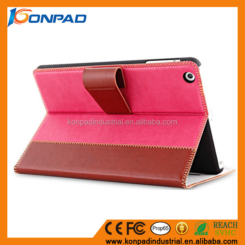 Soft leather PU case cover for ipad tablet air 9.7 inch leather stand smart case
