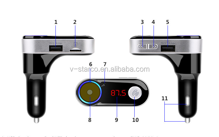 Brand new FM transmitter car with SD card