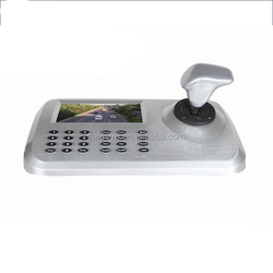 "CCTV Camera PTZ Controller Keyboard With 5"" Color LED Screen Plug & Play HDMI Output 3D Joystick IP ptz Keyboard Controller"