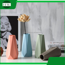 modern fancy home goods decorative cone shape mini trumpet fancy stand ceramic decoration vase