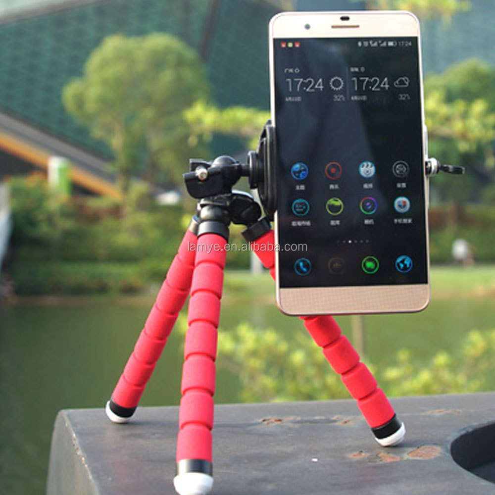 New premium mobile octopus tripod , flexible camera mounting tripod cellphone holder
