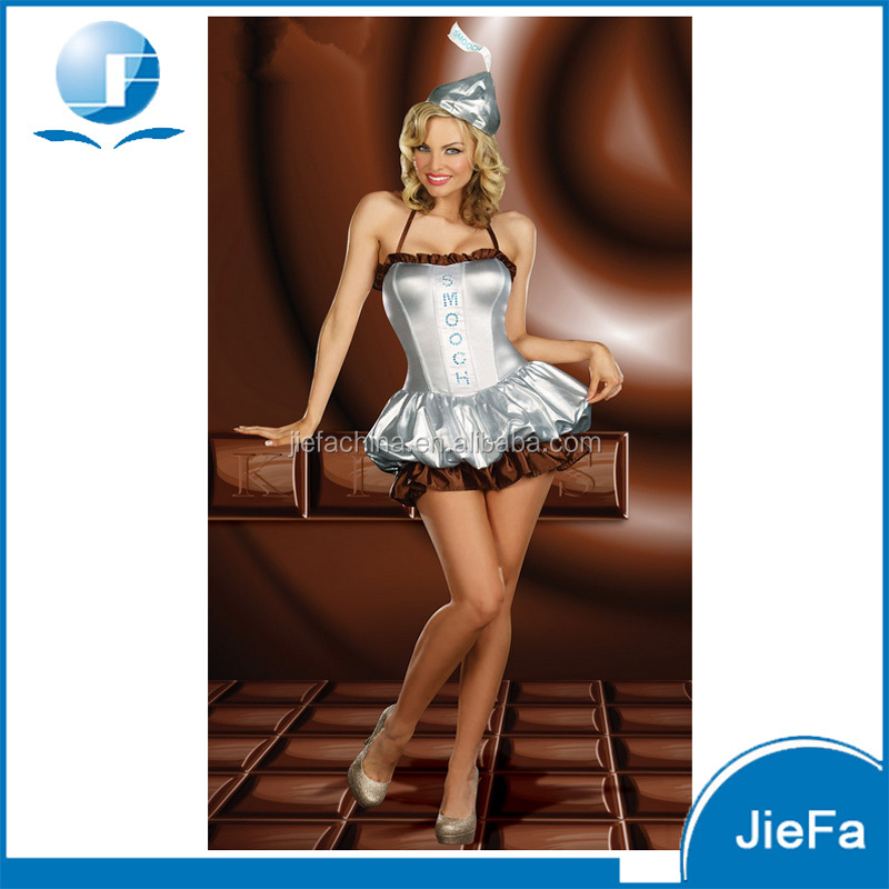 Sexy Chocolate Fancy Dress Cosplay Costume Nude Women Party Halloween Costume